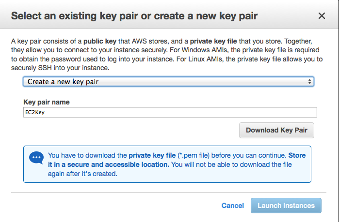 EC2免費主機 - step7建立key.png